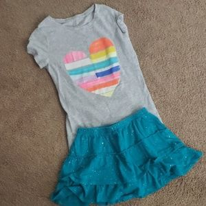 Skort and short sleeve outfit size 7/8